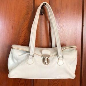 Prada white leather handbag